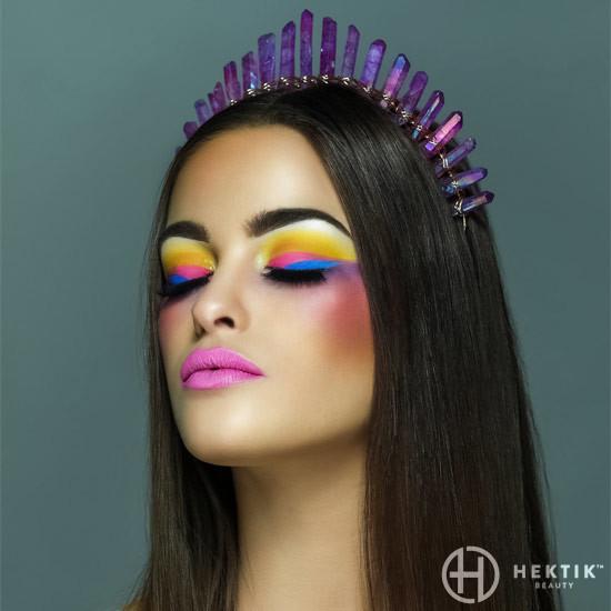Editorial festival makeup look 1
