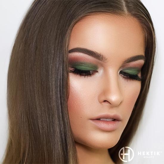 brown and green smokey eye makeup 2