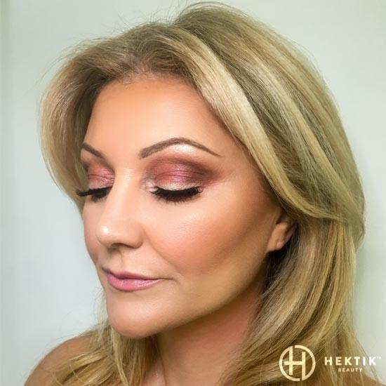 burgundy glam makeup sm6okey eye