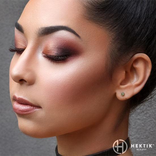 burgundy glam makeup smokey eye 1