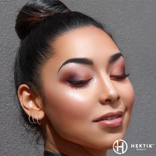 burgundy glam makeup smokey eye 2