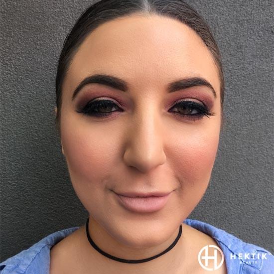 burgundy glam makeup smokey eye 4