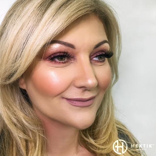 burgundy glam makeup smokey eye 5