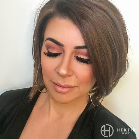 copper smokey eye makeup 3