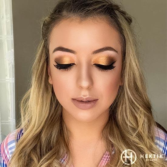 gold makeup smokey eye 1